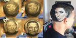 Barber creates amazing portraits of celebrities in his clients' scalps