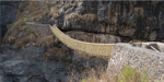Villagers risk their lives to rebuild ancient Inca walkway 100ft above the river using handmade grass ropes