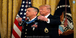 President Donald Trump awarded the Medal of Honor for the brave soldier in the Iraq war
