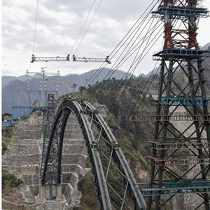 The world's tallest railway bridge across the Chenab River in Kashmir to add pride to India !!