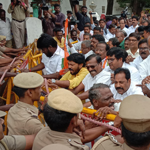 chidambaramprotest