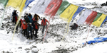 Dramatic photographs from Everest basecamp in the aftermath of the Nepalese earthquake have emerged