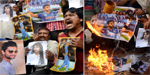 Indian team lost Reverberate - Angry fans burn the posters of Indian team members