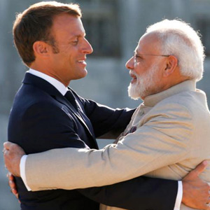 Prime Minister Modi's visit to France: Meeting with French President Emanuel Macron