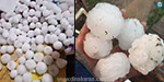 A sudden downpour of rain and hail on Telangana Yesterday, the website displays the vairalakum
