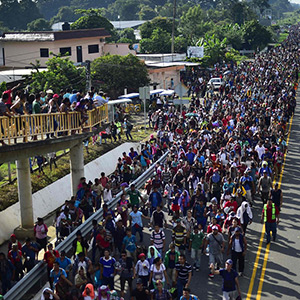 Refugees going from Honduras to the US