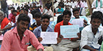 People gathering ar neduvasal to oppose hydro carbon project