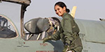 The first Indian female pilot to be directed alone