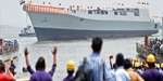 INS Visakhapatnam launched in Mumbai