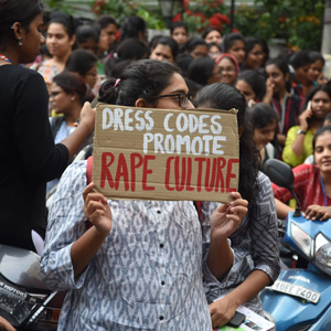 Students protest against women's college in Hyderabad