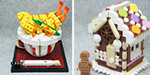 Food themed art made by lego artists