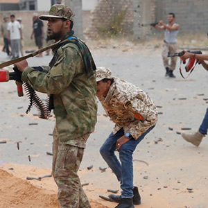 Struggle Against Arms: Libyan militia and heavy gunfire with state forces