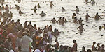 Mahi Purnima Gomallam at Kumbh Mela: The pilgrims come to the Ganga and worship the holy pilgrims