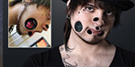 Man created tunnels in his face by tearing his muscles - awkward pics