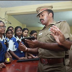 Awareness Class on Police Station and Use of School Students at Mylapore Police Station