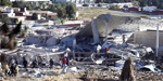 Huge gas truck explosion destroys Mexican maternity hospital
