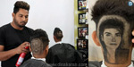 Michael Jackson is the first MS. Up to Dhoni !: Barber brothers showing hand hair on their head .. !!