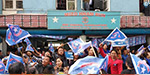 The Mizo National Front party seized power in Mizoram: volunteers are enthusiastic celebrations