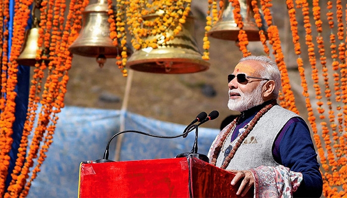 Prime Minister Narendra Modi specially attended Rudrapishhekat in Kedarnath Shiva temple
