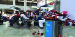 Shocking scenes at Mumbai airport after strike by cleaning staff left rubbish piled up in the terminal