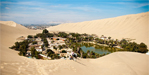 Oasis town in desert - many facilities including boating avail here