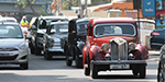 Exhibition of old cars and the parade took place in Egmore