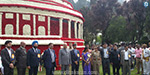 123 Flower exhibition was inaugurated by the Governor of the feeder panvaril: Excited tourists