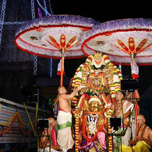 On the front of the Brahmmotsavam festival, Padmavathi mother was seen on the four floors