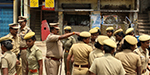 Liquor protests echo - police engaged in heavy security