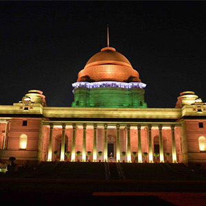 Republic Day Celebration: Rashadrapati Bhavan, which is shining in colorful light