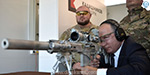 President of the Russian Federation Vladimir Putin inspected new guns of the Russian army