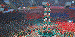 St. Merses Festival in Barcelona: Setting up a high human tower