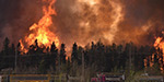 Canada wildfire - part of the city lost its shine