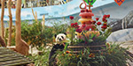 The 12th birthday celebration of the sijja panda bear in China