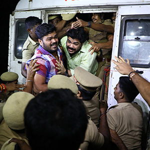 21-year-old Jayalalithaa's ID raid: Arrested activists arrested in struggle Relieve after the test