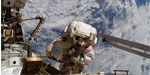 Astranauts check for construction purpose in International space station