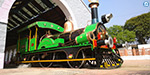 162 years old steam train engine: designed to attract tourists