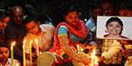 Swathy murder echoed - IT employees tribute by lighting candles