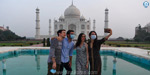 The world famous Taj Mahal opens to the public after 6 months !: People gather early in the morning .. !!