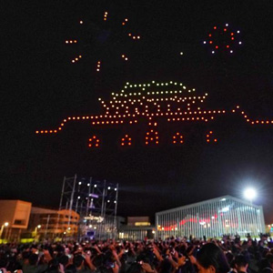 China's 70th anniversary: 300 unmanned aircraft collide in the sky