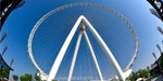 250 m. Height ... 1,750 people can travel !: The world's largest wheel opens in the United Arab Emirates .. !!