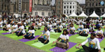 People practicing yoga in various countries including India for International Yoga Day!