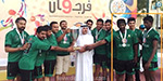 Ramanathapuram district youngs in Sharjah, peaking in private clubs and youth volleyball! Man of the series award in the local competition