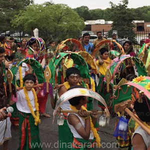 Children in Kavadi at Lord Prasanna Ganapathy temple in America