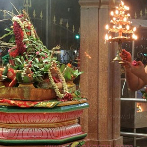Nigalla Yagam at the Eisun Maha Mariamman Temple in Singapore