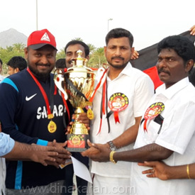 Fujairah Amerika DMK Tamilnadu youth cricket match