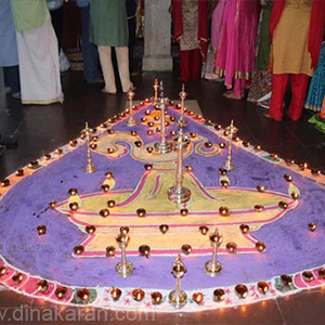 Karthikai Deepam festival in Sri Subramania Swamy Temple at Africa
