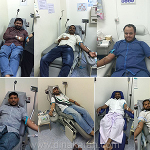 The 69th Indian Republic Day blood donation camp in Jeddah
