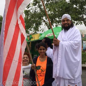 Marathon flow of world peace in Malaysia