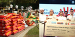 Together with the donation company, Indians combined with 22 tonnes of foodgrains and world record